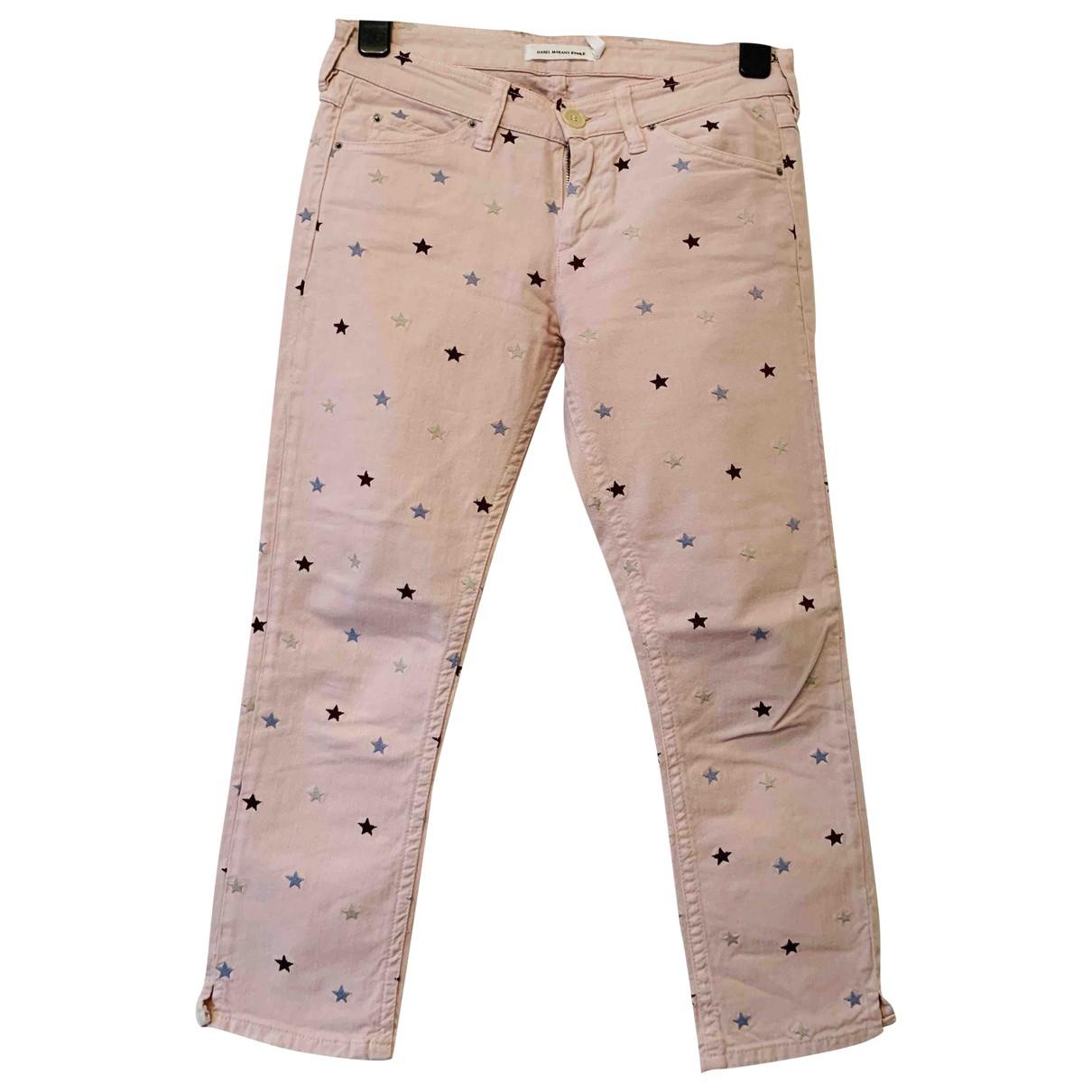 Isabel Marant Etoile \N Pink Cotton - elasthane Jeans for Women 40 FR