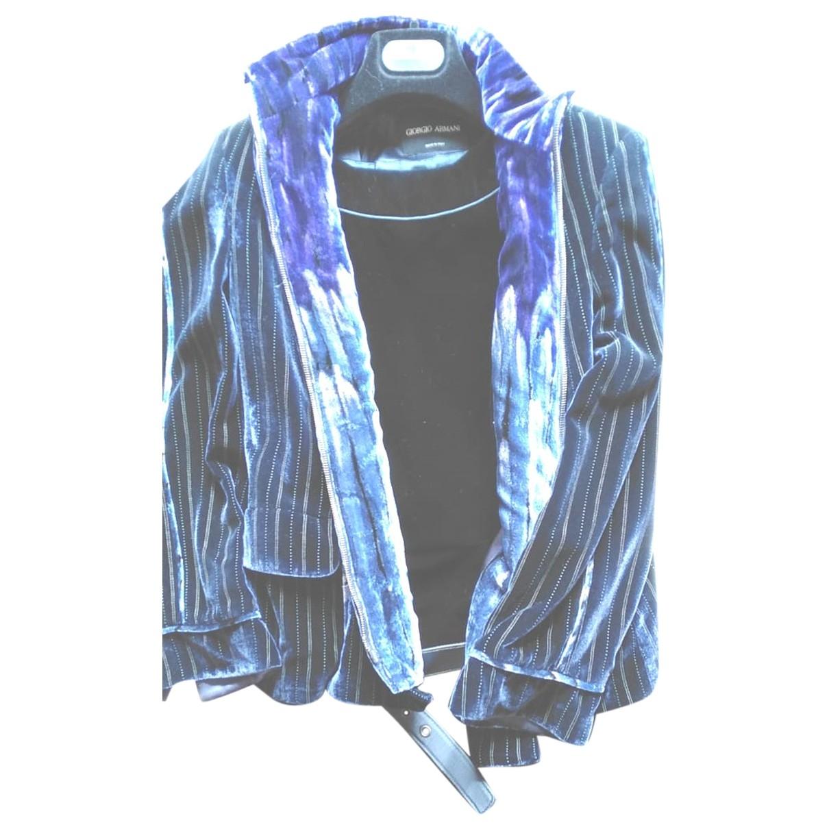 Giorgio Armani \N Kleid in  Blau Samt