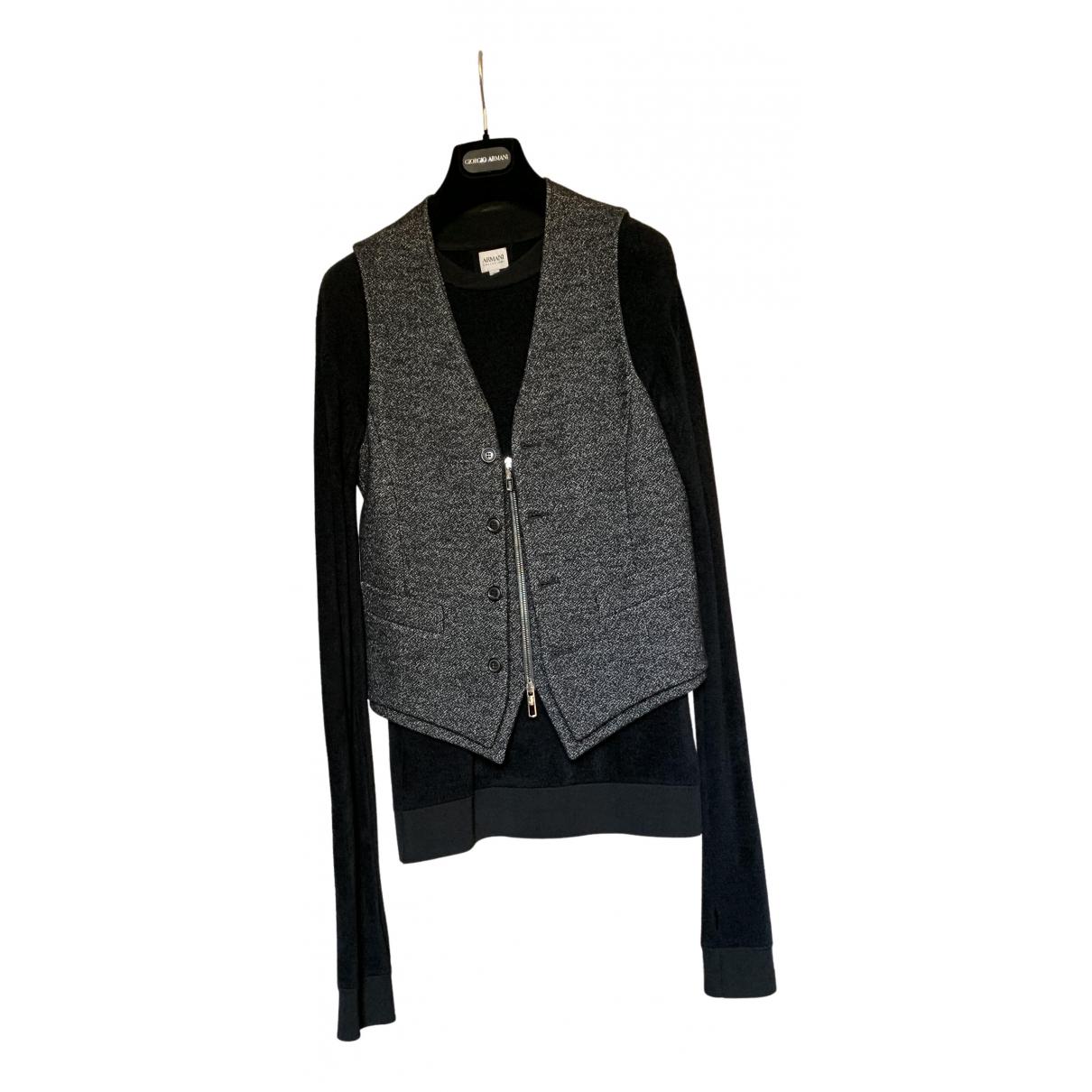 Armani Collezioni - Vestes.Blousons   pour homme en laine - noir