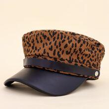 Kids Leopard Pattern Bakerboy Cap