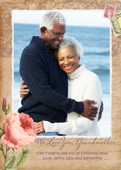 Grandparent's Day Flat Glossy Photo Paper Cards with Envelopes, 5x7, Card & Stationery -We Love You Grandmother