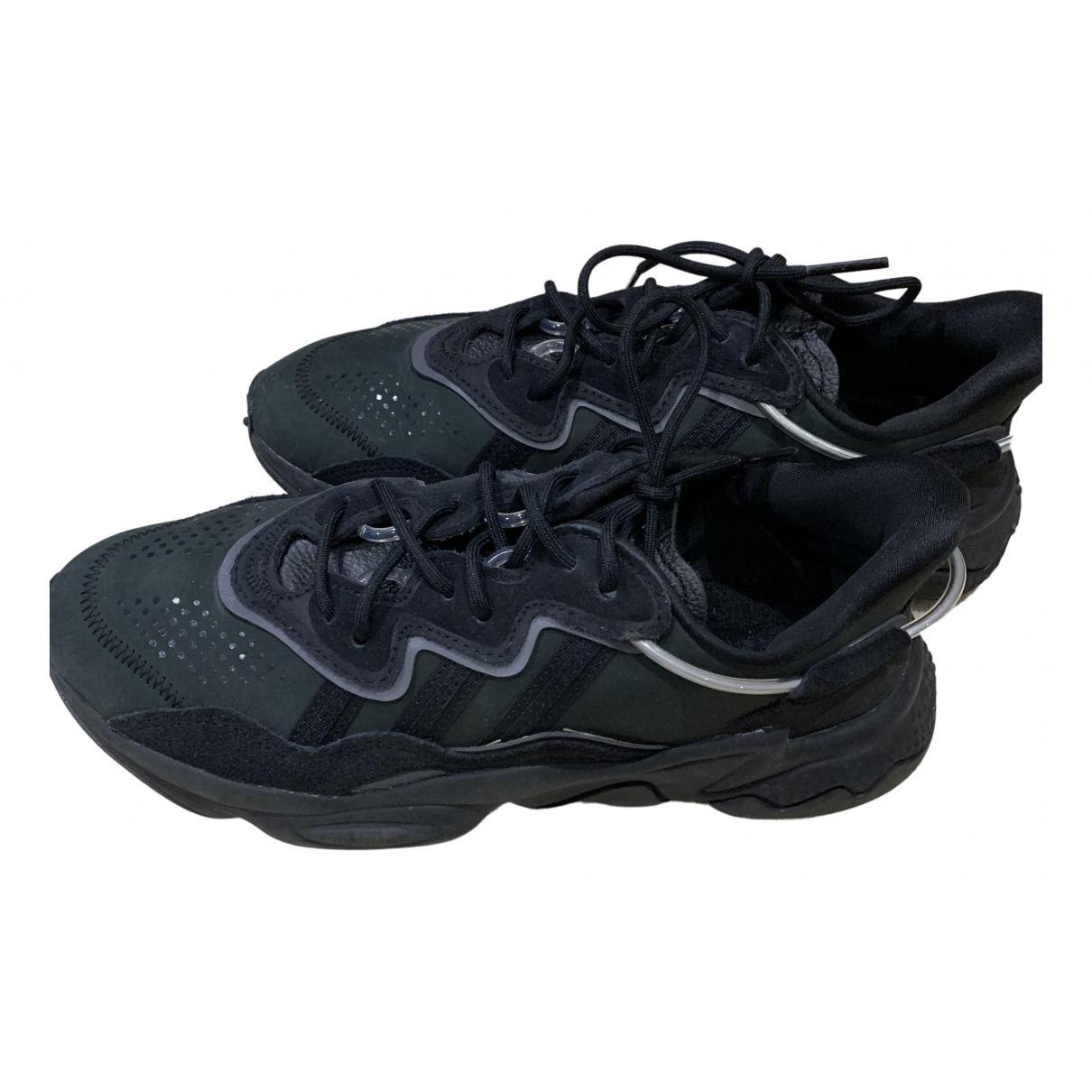 Adidas - Baskets Ozweego pour homme en cuir - noir