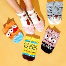 5pairs Cartoon Graphic Ankle Socks