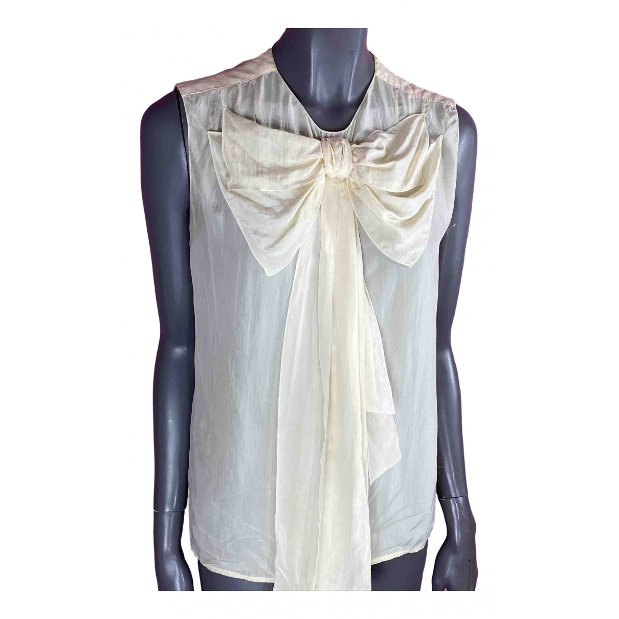 Stella Mccartney \N Beige Silk  top for Women M International