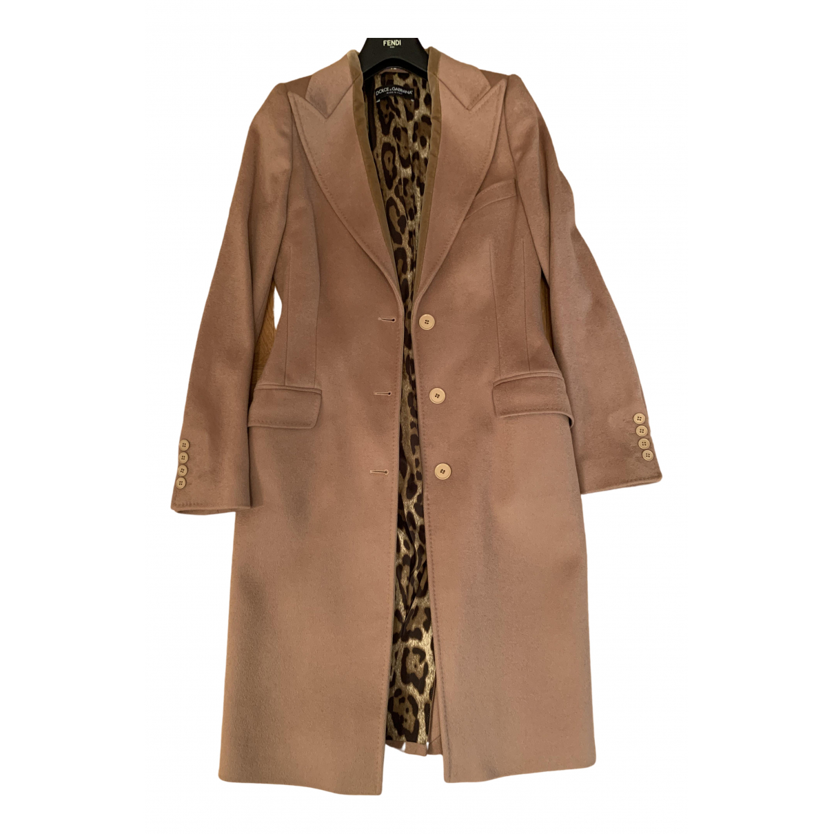 Dolce & Gabbana \N Beige Wool coat for Women 38 IT