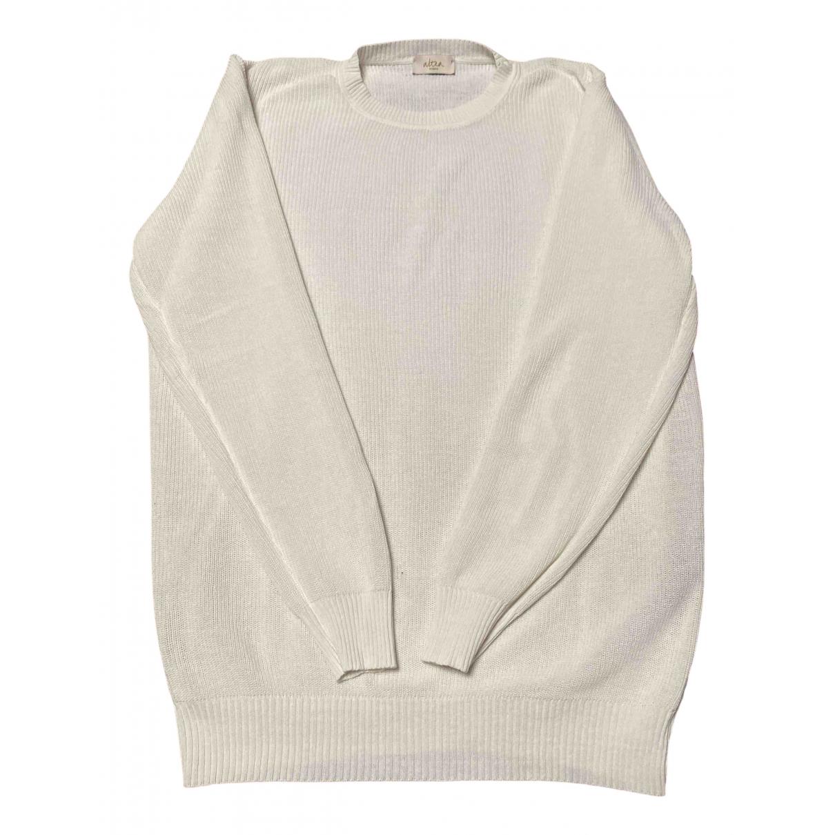 Altea \N Pullover.Westen.Sweatshirts  in  Weiss Leinen