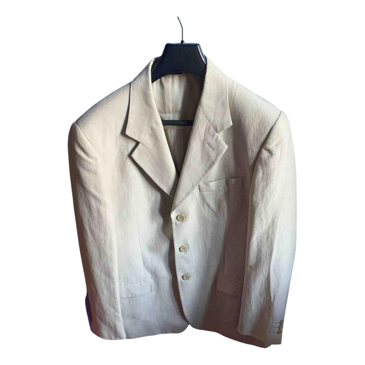 Non Signé / Unsigned N Beige Linen Suits for Men 50 IT