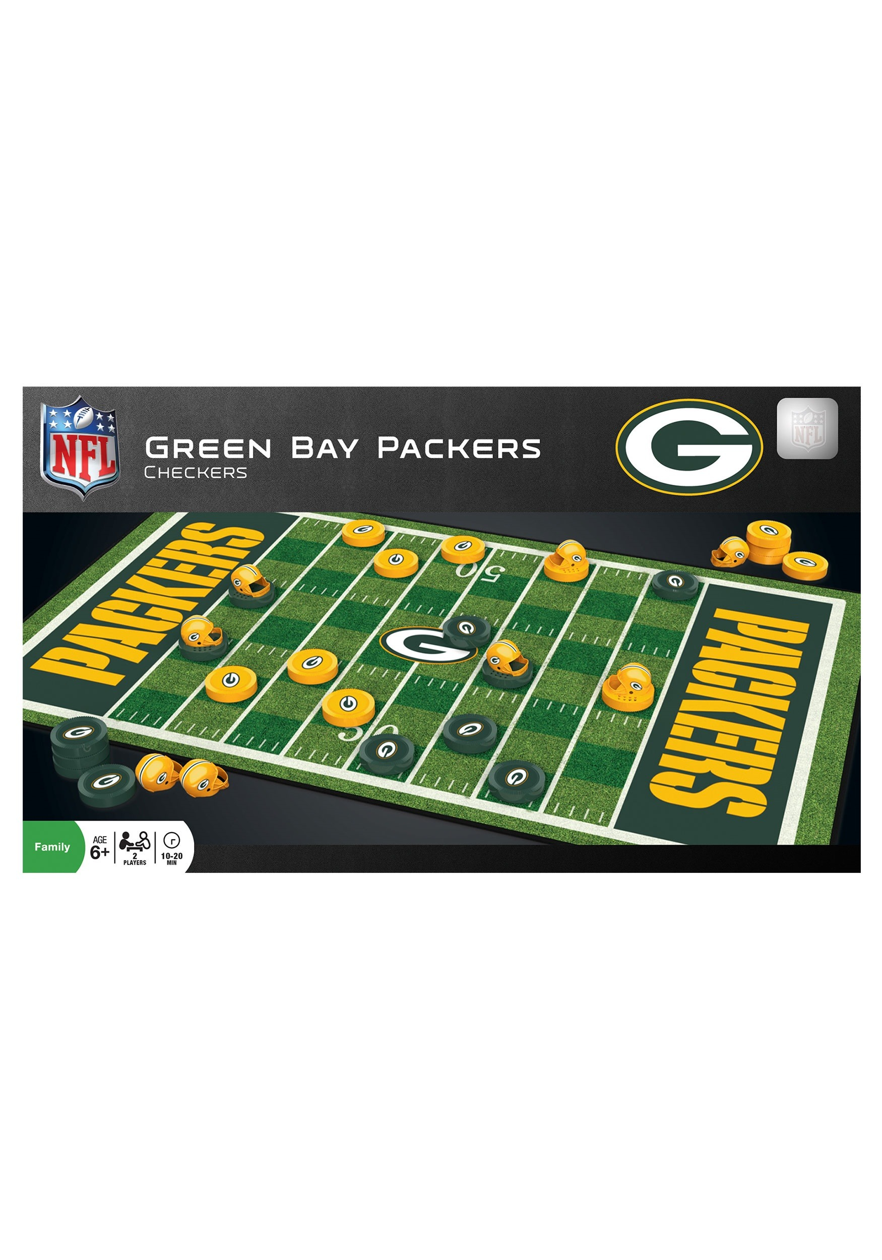 NFL Green Bay Packers Checkers