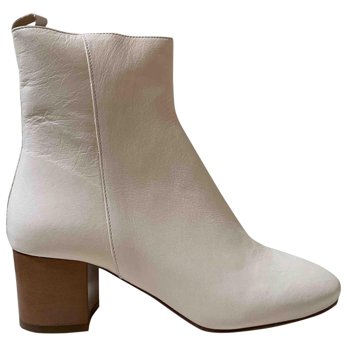 Isabel Marant - Boots   pour femme en cuir - blanc