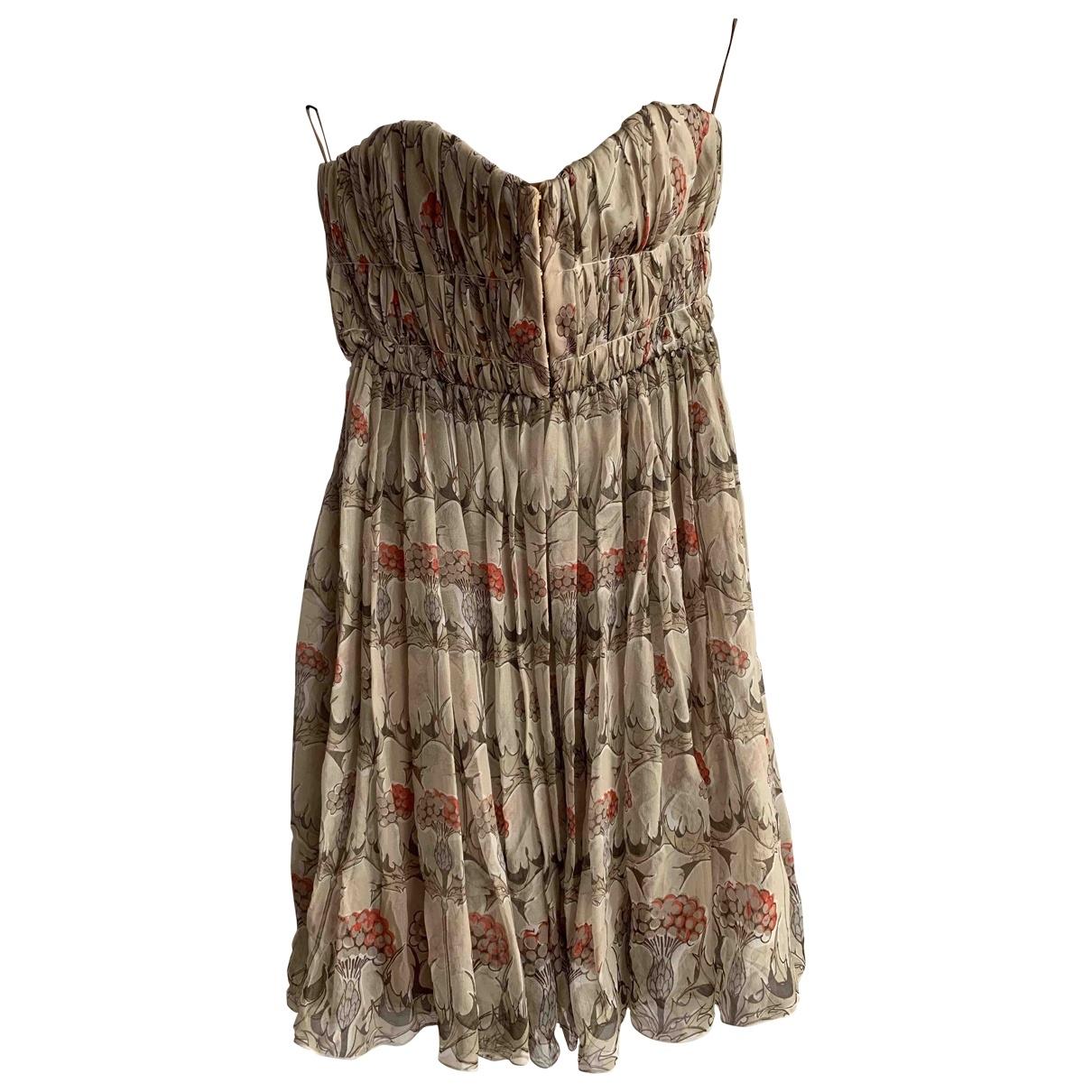 Carven \N Beige Silk dress for Women 38 FR