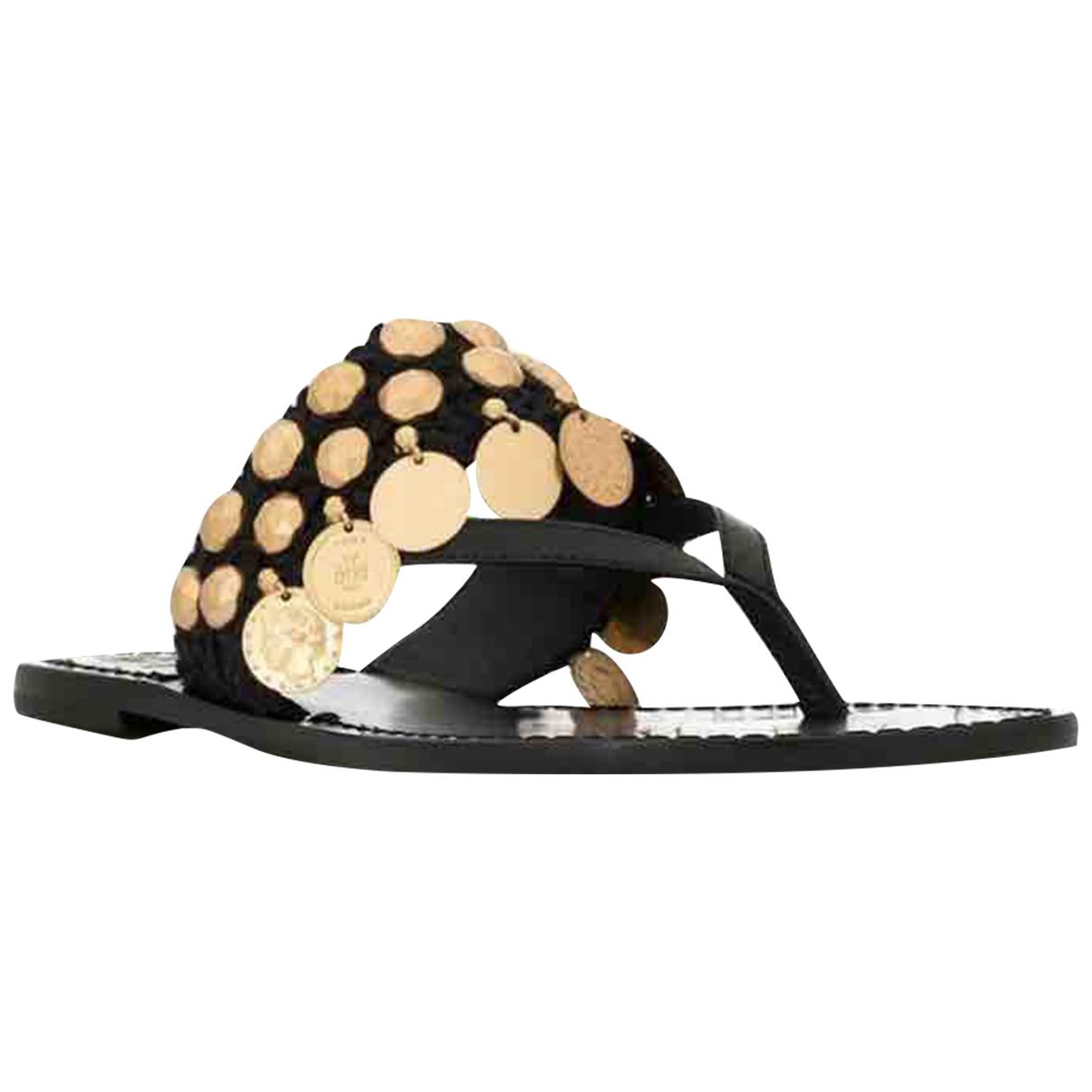 Tory Burch \N Black Leather Sandals for Women 38 EU