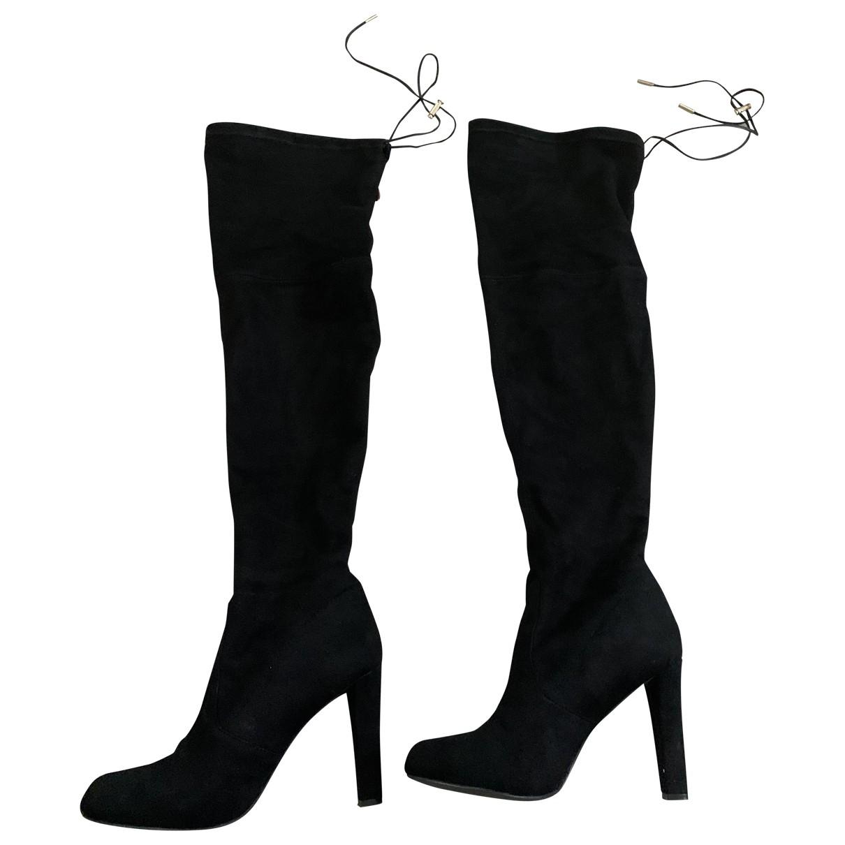 - Bottes   pour femme en toile - noir
