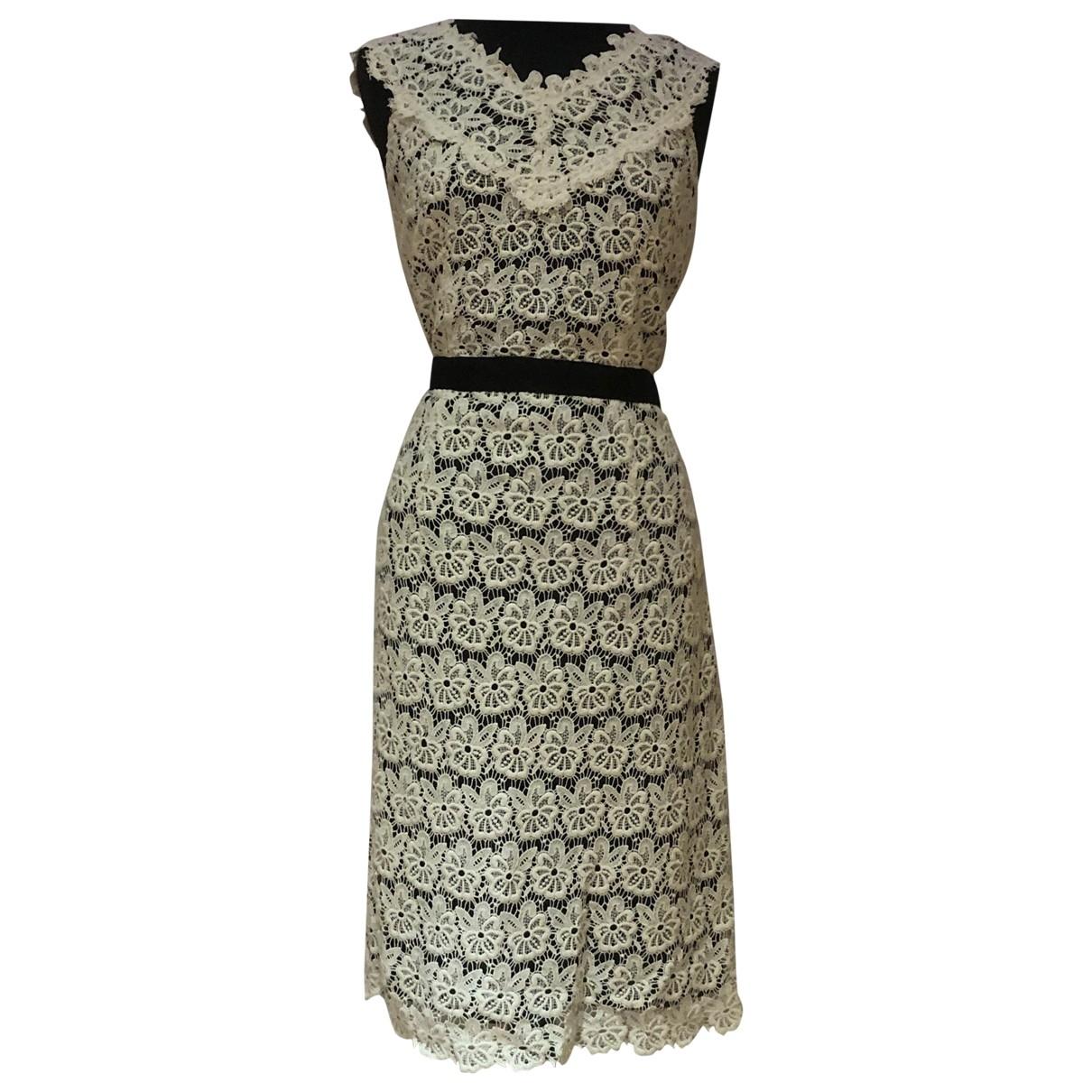 Jaeger \N Kleid in  Weiss Baumwolle