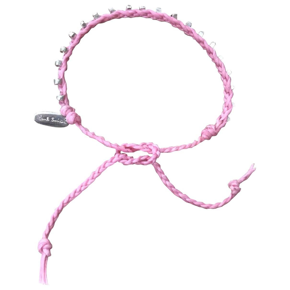 Paul Smith - Bracelet   pour femme en toile - rose