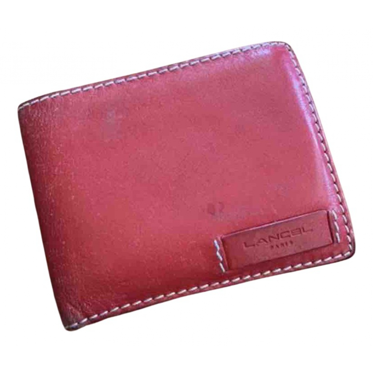 Lancel - Portefeuille   pour femme en cuir - rouge