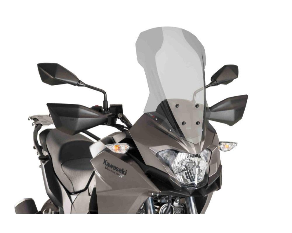 Puig 9710H Touring Windscreen - Light Smoke Kawasaki Versys X300 2017