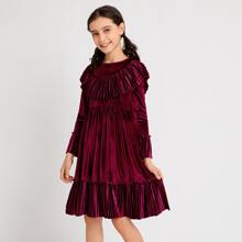 Vestidos para niñas Tablas Liso Casual