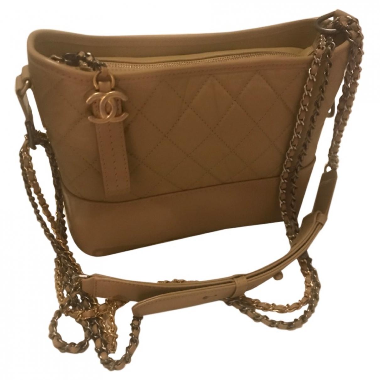 Chanel Gabrielle Handtasche in  Beige Leder