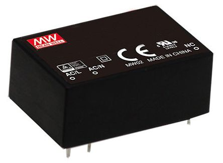 Mean Well , 3W Encapsulated Switch Mode Power Supply, 24V dc, Encapsulated