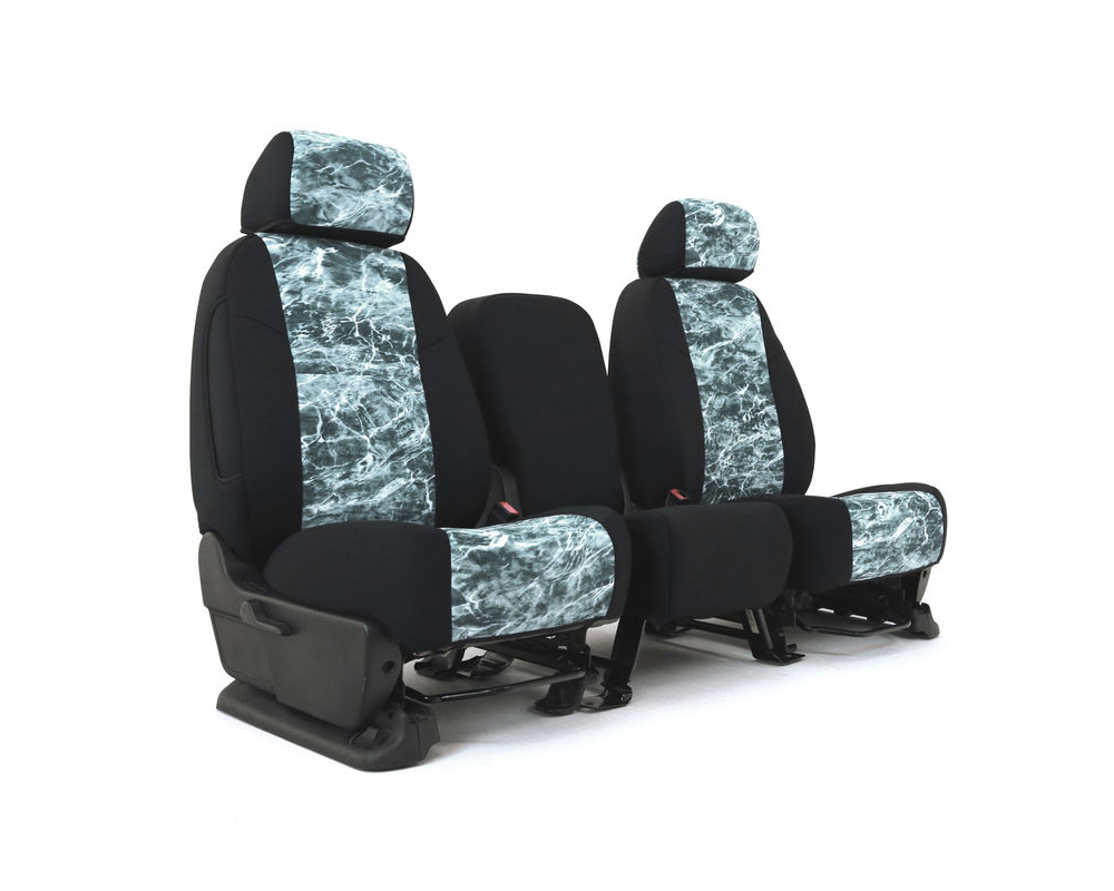 Coverking CSC2MO13TT9624 Skanda Custom Seat Covers 1 Row Neosupreme Mossy Oak Elements Spindrift with Black Sides Rear Toyota Tacoma 2013-2015