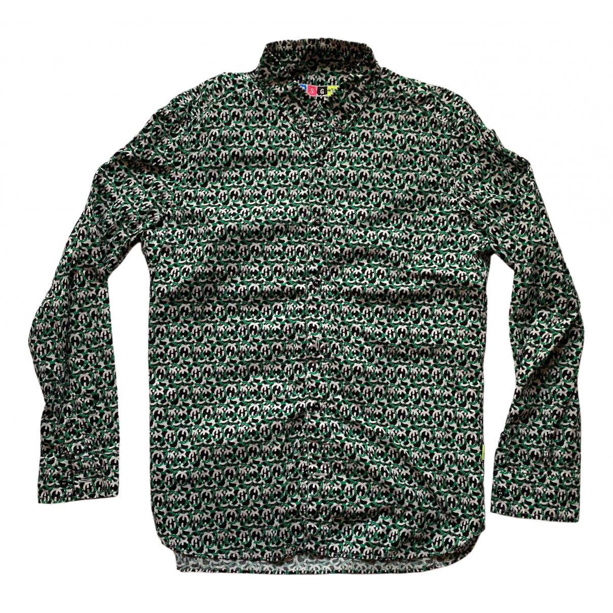 Msgm - Chemises   pour homme en coton - vert