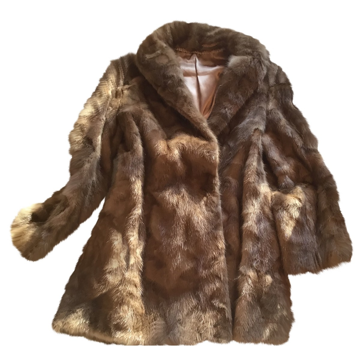 Non Signé / Unsigned \N Beige Mink jacket for Women L International