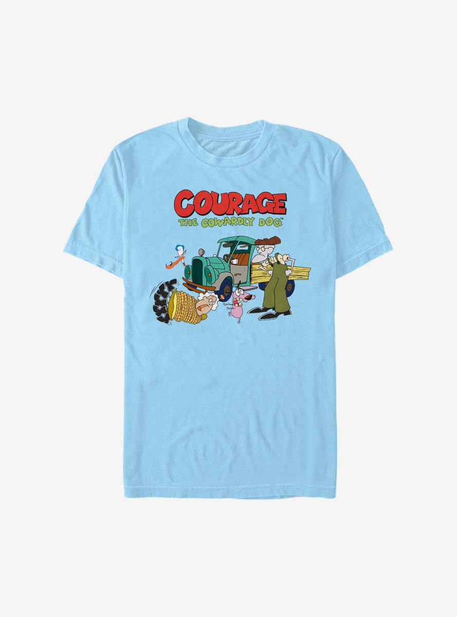 Courage The Cowardly Dog Logo Scene T-Shirt
