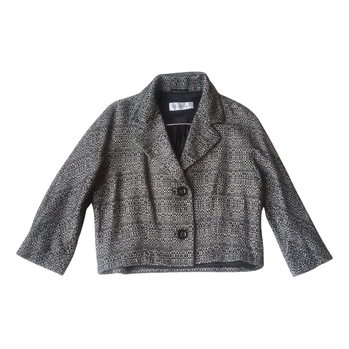 Max Mara N Black Cotton jacket for Women 44 FR