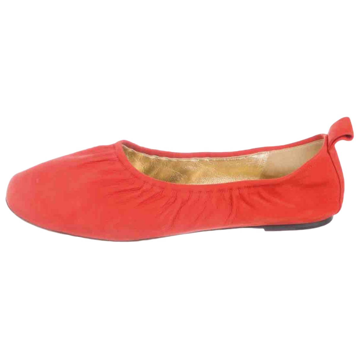 Celine \N Red Leather Ballet flats for Women 39 IT