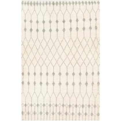 Beni Ourain BON-2300 8 x 10 Rectangle Global Rug in Cream  Light