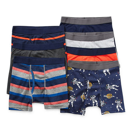 Arizona Little & Big Boys 7 Pack Boxer Briefs, Small , Blue