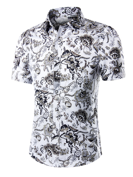 Yoins Men Summer Casual All Over Floral Print Holiday Shirt