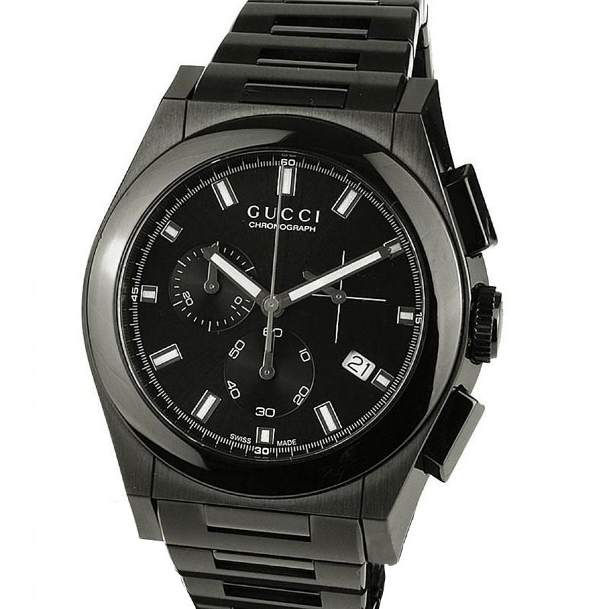 Gucci Panthéon Black Steel watch for Men \N