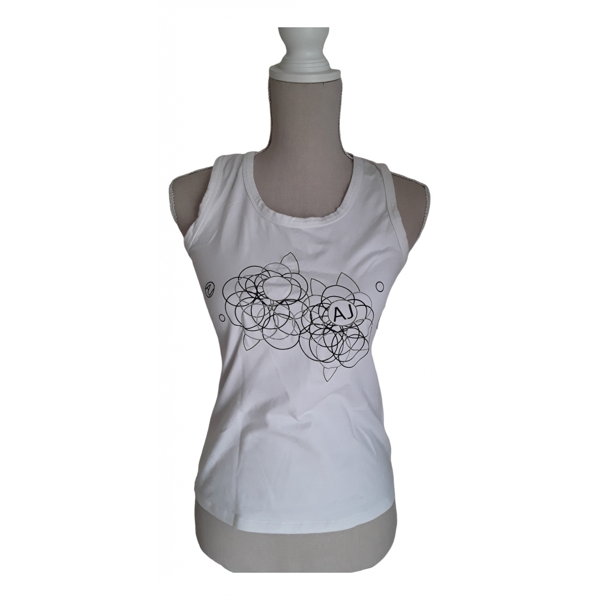 Armani Jeans \N White Cotton  top for Women 42 IT
