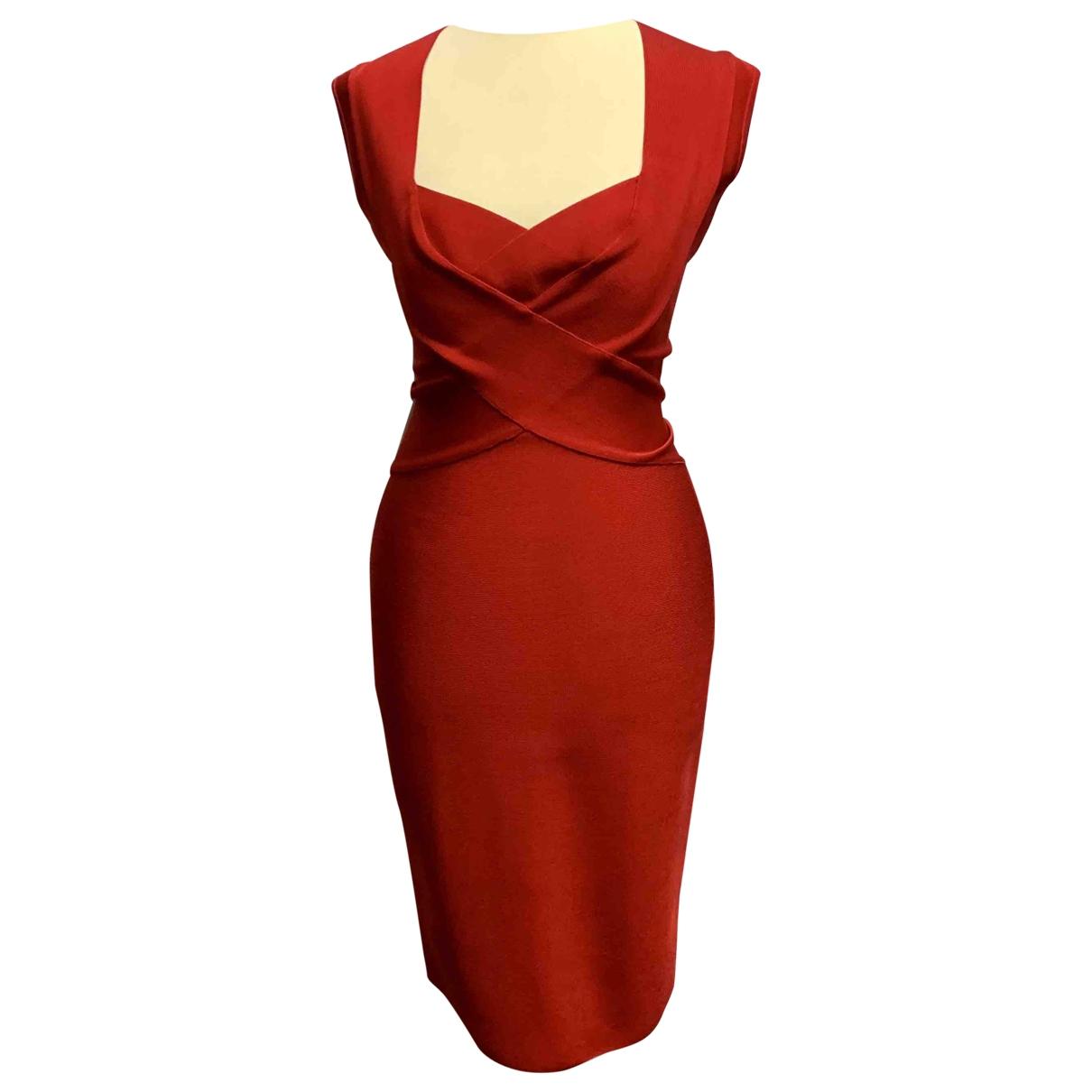 Non Signe / Unsigned \N Kleid in  Rot Viskose
