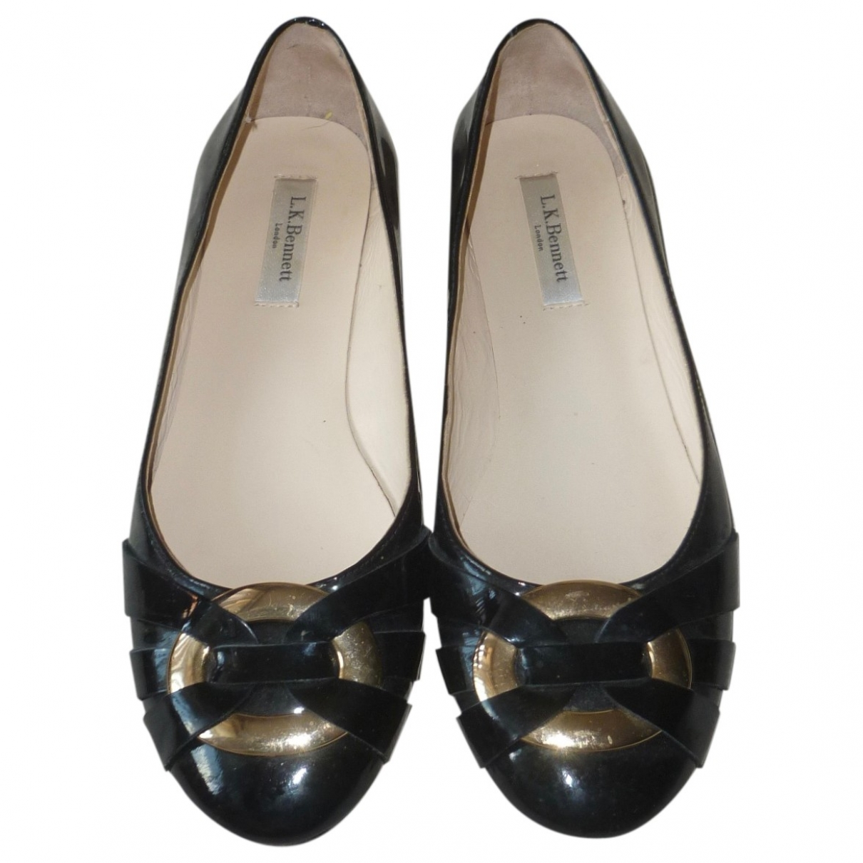 Lk Bennett \N Black Patent leather Ballet flats for Women 38.5 EU