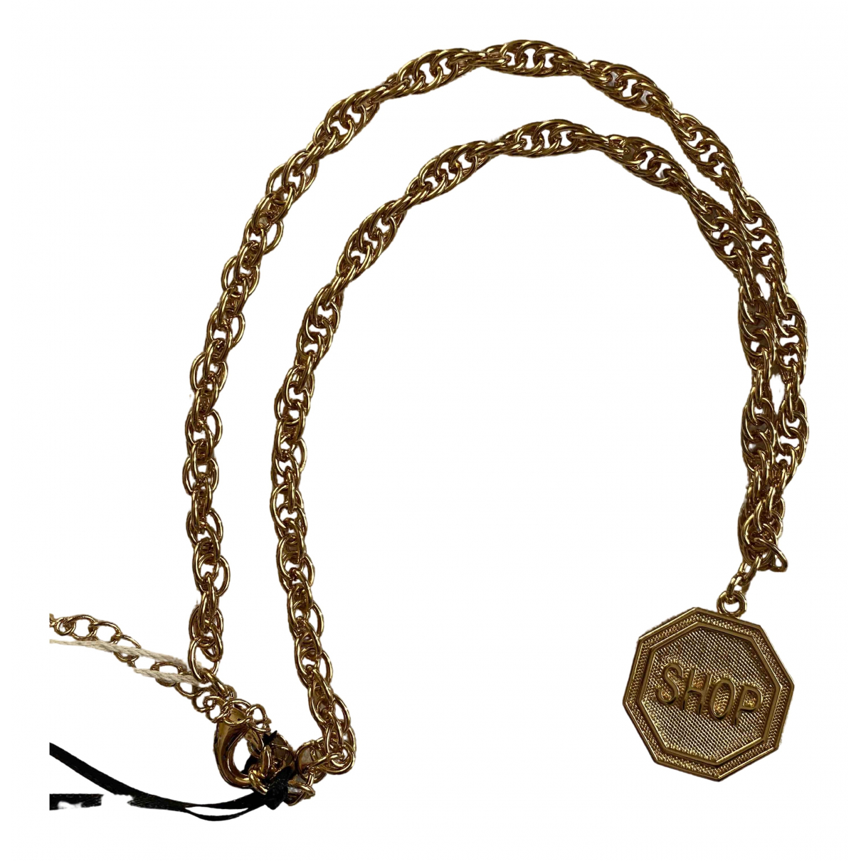 Moschino \N Gold Steel necklace for Women \N