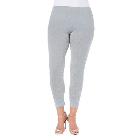 24/7 Comfort Apparel Stretch Ankle Length Leggings - Plus, 3x , Gray