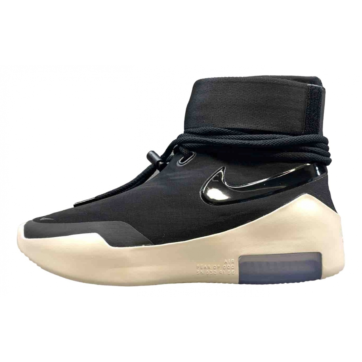 Nike X Fear Of God Air FOG 1 Sneakers in  Schwarz Leinen
