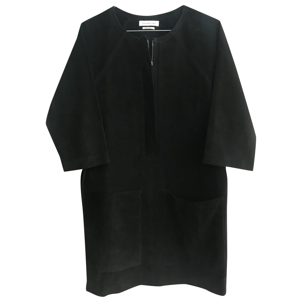 Isabel Marant Etoile \N Kleid in  Schwarz Leder