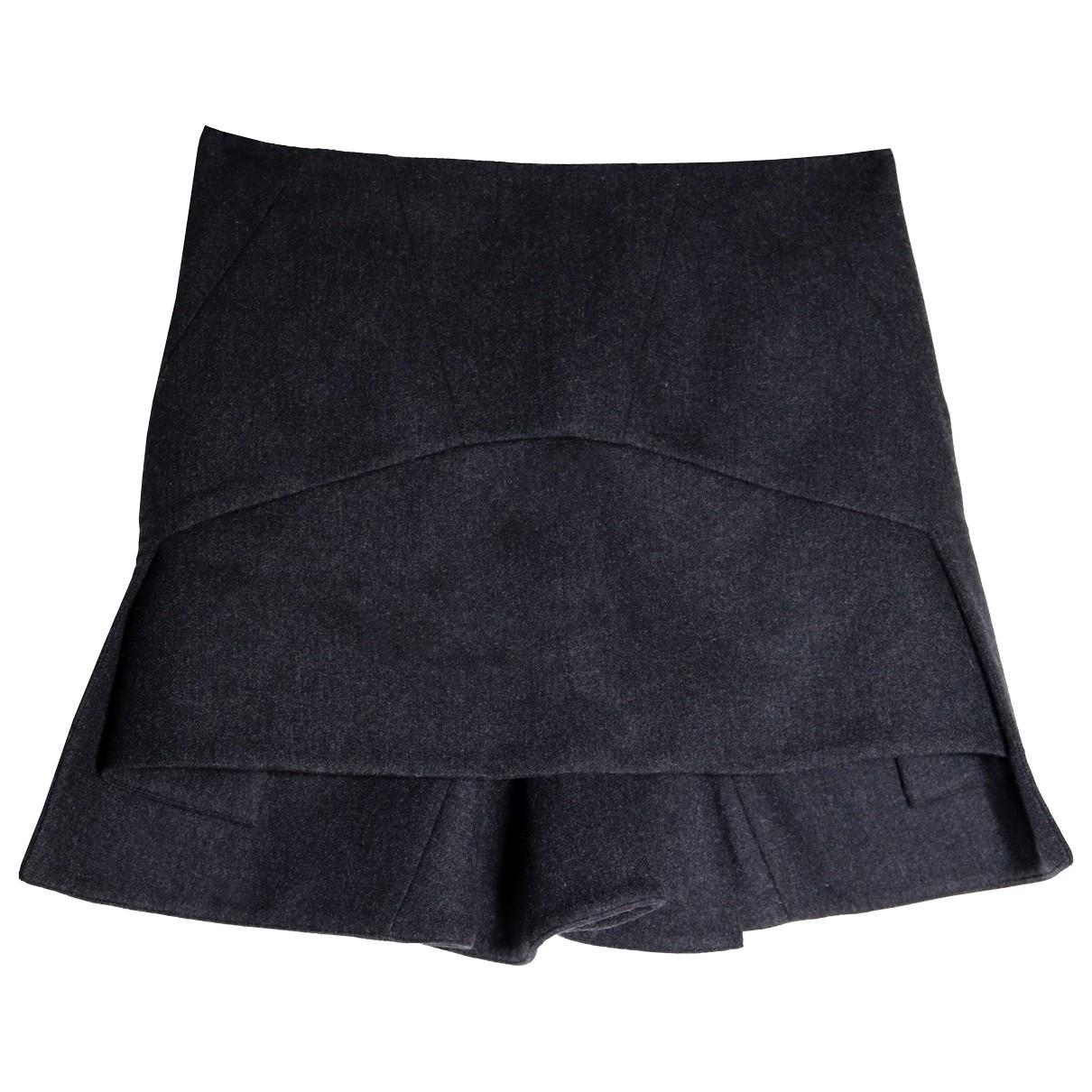 Givenchy - Jupe   pour femme en laine - anthracite