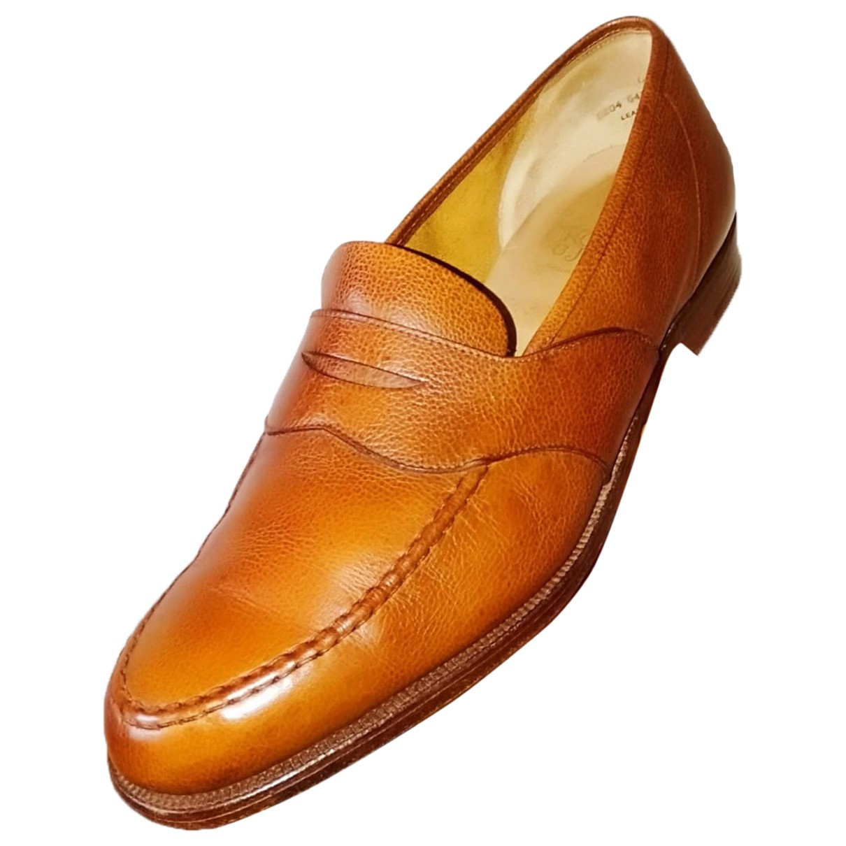 Crockett& Jones \N Brown Leather Flats for Men 12 UK
