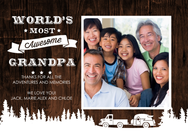 Grandparent's Day Flat Matte Photo Paper Cards with Envelopes, 5x7, Card & Stationery -World's Most Awesome Grandpa