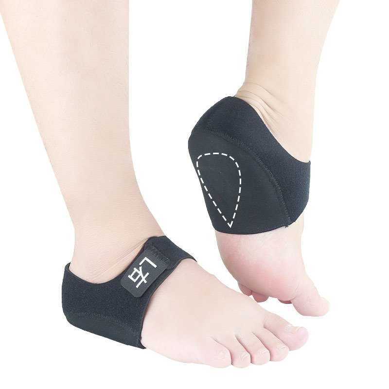 Unisex Gel Velcro Reduce Fatigue Shock Absorption Keep Warm Heel Protector