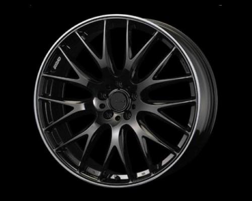 Homura 2X9 Wheel 20x8.5 5x114.3 45mm Glossy Black/Rim Edge DMC