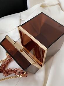 Mini Clear Chain Box Bag
