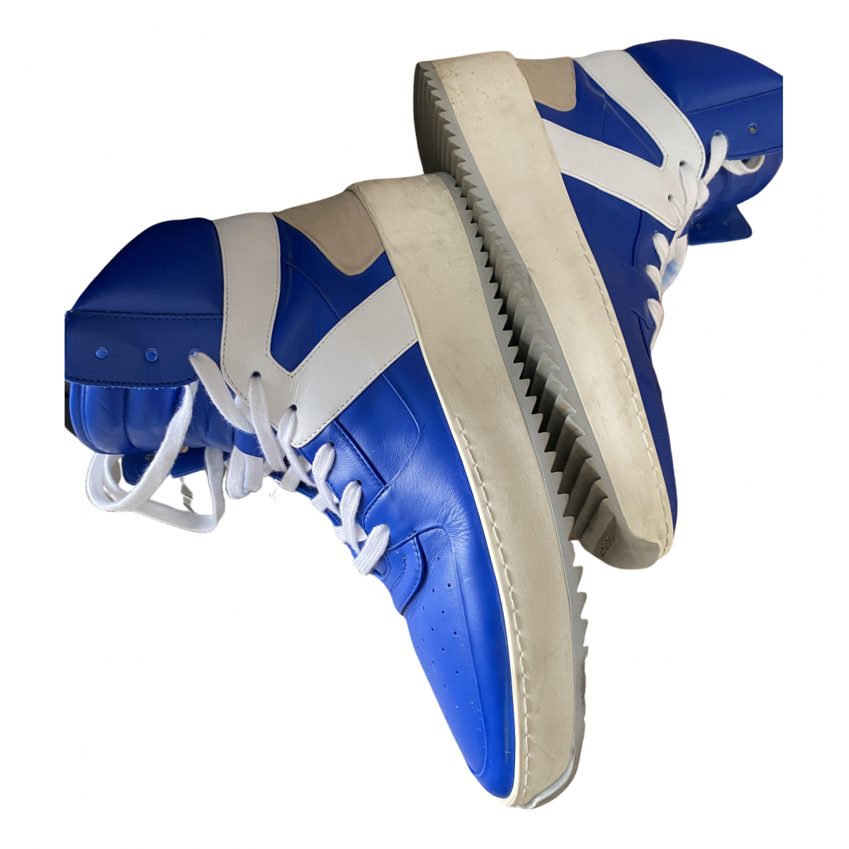 Fear Of God N Blue Leather Trainers for Men 42 EU