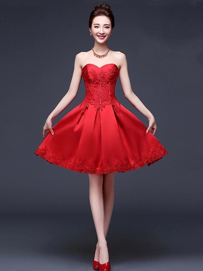 Ericdress Beautiful Appliques Sweetheart Short Bridesmaid Dress