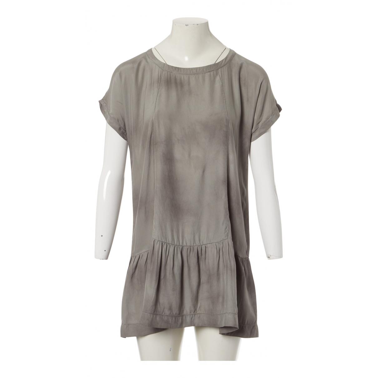 Iro - Robe   pour femme en soie - gris