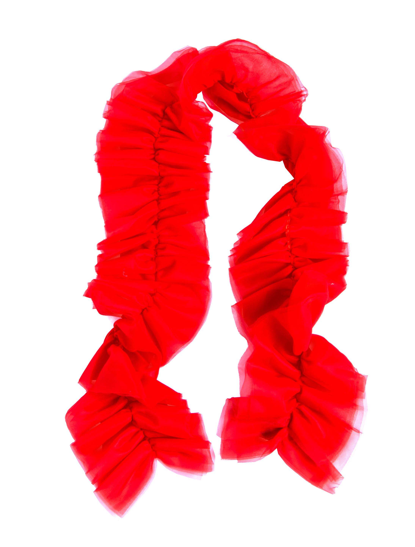 Kostuemzubehor Tuellschal rot 180cm